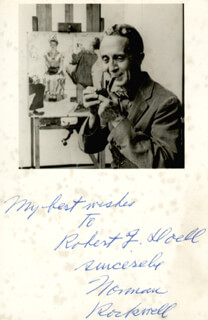 NORMAN ROCKWELL - AUTOGRAPHED INSCRIBED PHOTOGRAPH