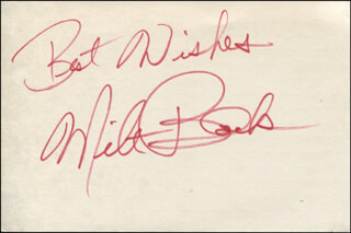 MILT BLACK - AUTOGRAPH SENTIMENT SIGNED  - HFSID 319253