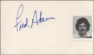 Autographs: FRED AHERN - SIGNATURE(S)