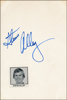 STEVE ALLEY - AUTOGRAPH  - HFSID 319748