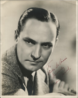 FREDRIC MARCH - AUTOGRAPHED INSCRIBED PHOTOGRAPH