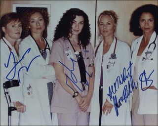E/R TV CAST - AUTOGRAPHED SIGNED PHOTOGRAPH CO-SIGNED BY: JULIANNA MARGULIES, GLORIA REUBEN, LAURA INNES, MARIA BELLO
