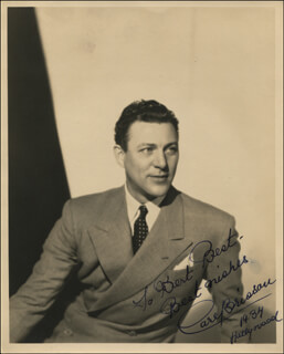 CARL BRISSON - AUTOGRAPHED INSCRIBED PHOTOGRAPH 1934