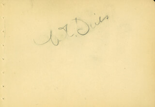 W. C. FIELDS - AUTOGRAPH CO-SIGNED BY: CONSTANCE BENNETT