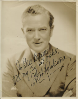 HERBERT RAWLINSON - AUTOGRAPHED INSCRIBED PHOTOGRAPH