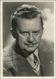 JEAN HERSHOLT - AUTOGRAPHED INSCRIBED PHOTOGRAPH 1952