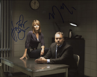 LAW AND ORDER: CRIMINAL INTENT TV CAST - AUTOGRAPHED SIGNED PHOTOGRAPH CO-SIGNED BY: KATHRYN ERBE, VINCENT D'ONOFRIO