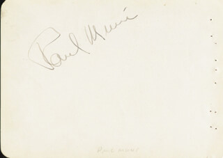 PAUL MUNI - AUTOGRAPH CO-SIGNED BY: BENNY BAKER