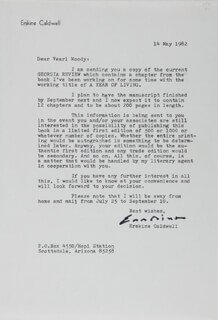 ERSKINE CALDWELL - TYPED LETTER SIGNED 05/14/1982