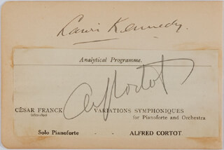 ALFRED-DENIS CORTOT - AUTOGRAPH CO-SIGNED BY: LAURI KENNEDY, OLGA HALEY