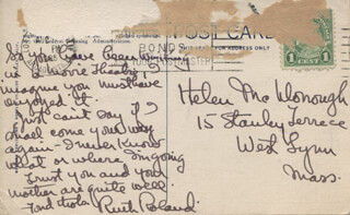 RUTH ROLAND - AUTOGRAPH LETTER SIGNED CIRCA 1935