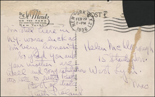 RUTH ROLAND - AUTOGRAPH LETTER SIGNED CIRCA 1936