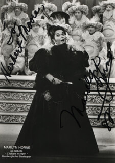 MARILYN HORNE - AUTOGRAPHED INSCRIBED PHOTOGRAPH 1982