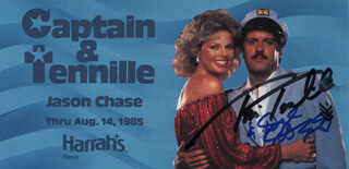 CAPTAIN & TENNILLE - ADVERTISEMENT SIGNED CO-SIGNED BY: CAPTAIN & TENNILLE (DARYL DRAGON), CAPTAIN & TENNILLE (TONI TENNILLE)