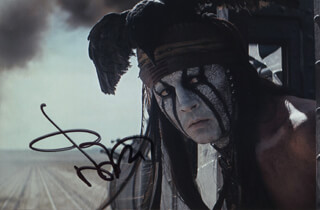 JOHNNY DEPP - AUTOGRAPHED SIGNED PHOTOGRAPH