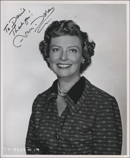ANN DORAN - AUTOGRAPHED INSCRIBED PHOTOGRAPH