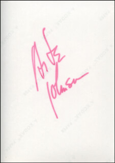 ARTE JOHNSON - AUTOGRAPHED SIGNED PHOTOGRAPH