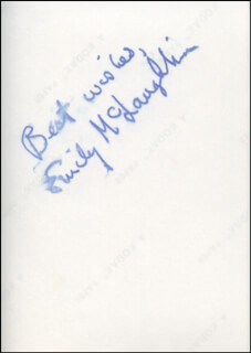 EMILY McLAUGHLIN - AUTOGRAPHED SIGNED PHOTOGRAPH CIRCA 1971