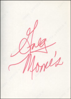 GREG MORRIS - AUTOGRAPHED SIGNED PHOTOGRAPH CIRCA 1971