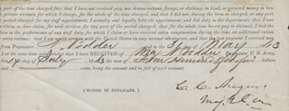 Autographs: MAJOR GENERAL CHRISTOPHER C. AUGUR - DOCUMENT FRAGMENT SIGNED