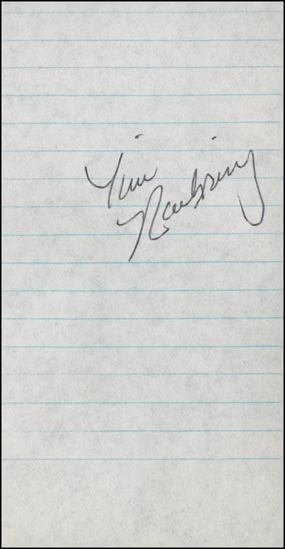 TIM NAEHRING - AUTOGRAPH