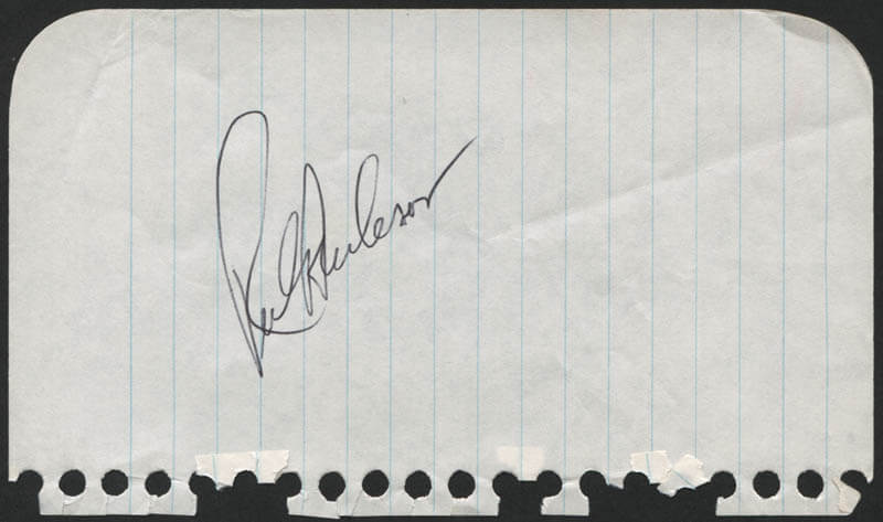 RICK ROOSTER BURLESON - AUTOGRAPH