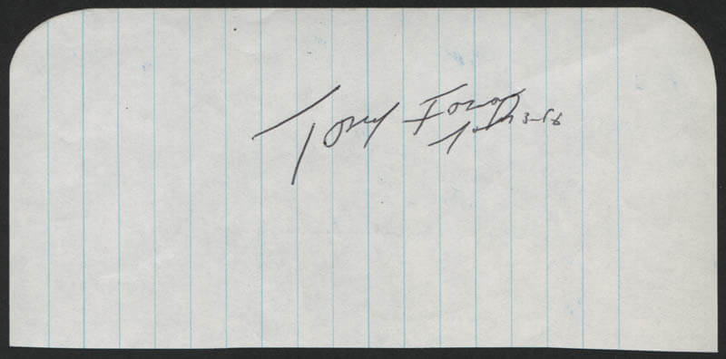 TONY FOSSAS - AUTOGRAPH QUOTATION SIGNED