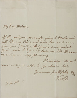 ADMIRAL GEORGE KEITH (VISCOUNT KEITH) ELPHINSTONE - AUTOGRAPH LETTER SIGNED