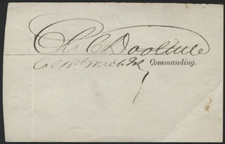 MAJOR GENERAL CHARLES CAMP DOOLITTLE - AUTOGRAPH