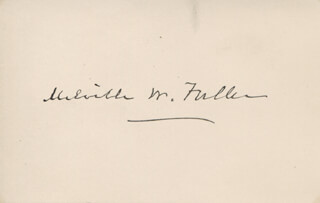 CHIEF JUSTICE MELVILLE W. FULLER - AUTOGRAPH 12/12/1892