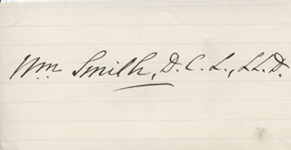 SIR WILLIAM SMITH - AUTOGRAPH