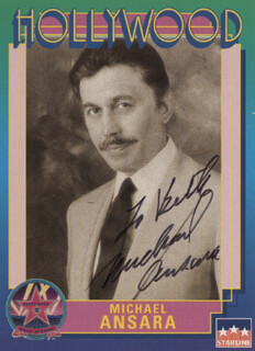 MICHAEL ANSARA - INSCRIBED TRADING/SPORTS CARD SIGNED