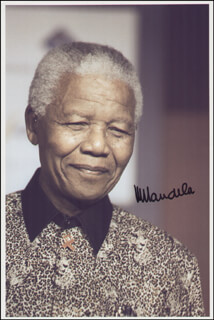 Autographs: PRESIDENT NELSON MANDELA (SOUTH AFRICA) - COLLECTION