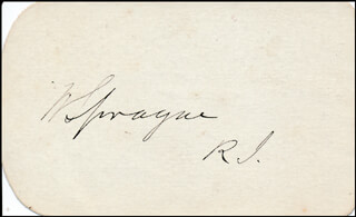 GENERAL WILLIAM SPRAGUE - AUTOGRAPH
