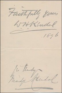 WILLIAM H. KENDAL - AUTOGRAPH SENTIMENT SIGNED 1896 CO-SIGNED BY: MADGE KENDAL