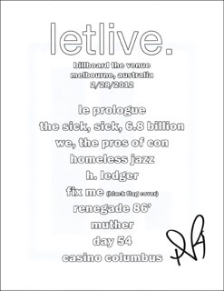 LETLIVE. (JASON AALON BUTLER) - ADVERTISEMENT SIGNED