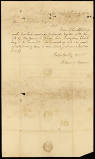 Autographs: JOHN BROWN - AUTOGRAPH LETTER SIGNED 07/11/1846