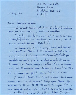 INNES B. WESTMACOTT - AUTOGRAPH LETTER SIGNED 05/28/1979