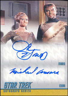 STAR TREK TV CAST - TRADING/SPORTS CARD SIGNED CO-SIGNED BY: SUSAN HOWARD, MICHAEL ANSARA