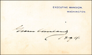 Autographs: FIRST LADY FRANCES F. CLEVELAND - COLLECTION WITH PRESIDENT GROVER CLEVELAND