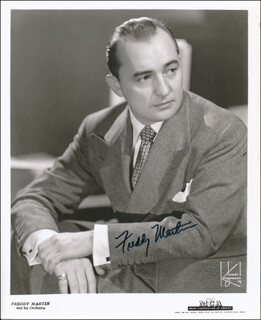 FREDDY MARTIN - AUTOGRAPHED SIGNED PHOTOGRAPH