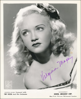 VIRGINIA MAXEY - AUTOGRAPHED SIGNED PHOTOGRAPH