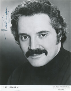 HAL LINDEN - AUTOGRAPHED SIGNED PHOTOGRAPH