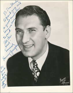 HENNY YOUNGMAN - AUTOGRAPH NOTE ON PHOTOGRAPH SIGNED