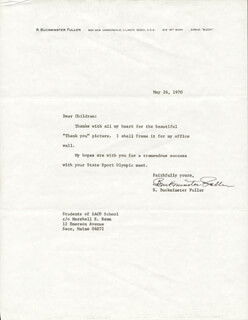 BUCKMINSTER FULLER - TYPED LETTER SIGNED 05/26/1970
