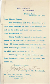 Autographs: GEORGE B. CORTELYOU - TYPED LETTER SIGNED 02/12/1902