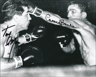 CARMEN BASILIO - AUTOGRAPHED SIGNED PHOTOGRAPH CO-SIGNED BY: TONY DEMARCO