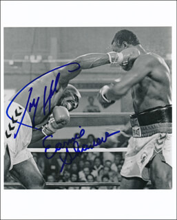 LARRY HOLMES - AUTOGRAPHED SIGNED PHOTOGRAPH CO-SIGNED BY: EARNIE SHAVERS