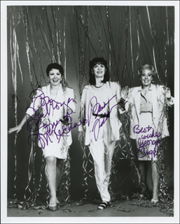 CUT THE RIBBONS PLAY CAST - AUTOGRAPHED INSCRIBED PHOTOGRAPH CO-SIGNED BY: BARBARA FELDON, DONNA McKECHNIE, GEORGIA ENGEL