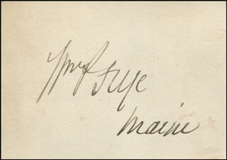 WILLIAM P. FRYE - AUTOGRAPH